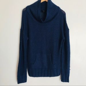 Rue 21   blue knit cowl neck sweater